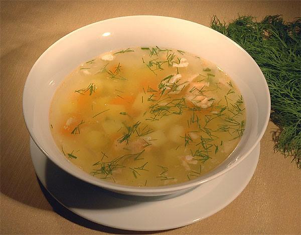Рецепт - Суп из трески.